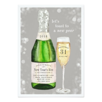 Retro New Year S Eve Invitations Retro Invites