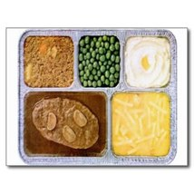 Picture of Retro Tv Dinner on a Postcard