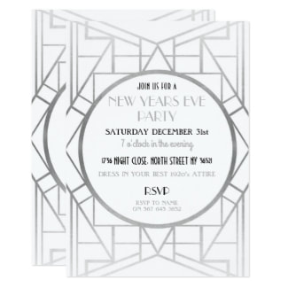 Gatsby New Years Eve Invitations