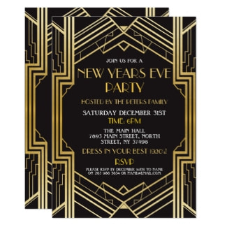 1920s new year eve invite