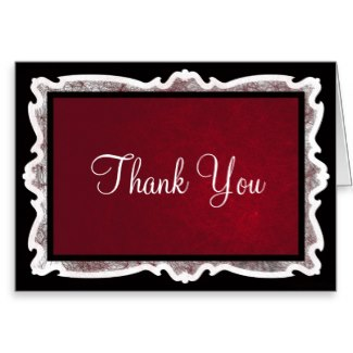 Goth Thank You Cards