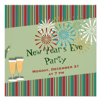 retro new years eve party invitations
