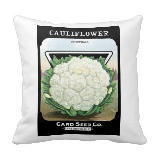 Vintage Cauliflower Pillow