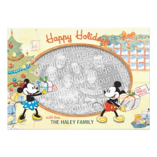 Mickey and Minnie Happy Holidays Photo Cards