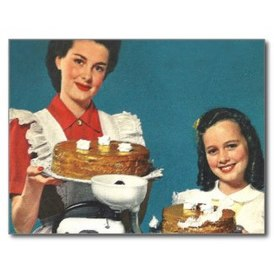 1950s Retro Food Postcard