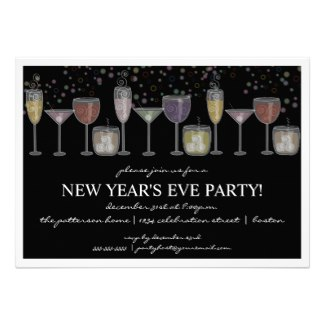 cocktail party new years eve invitation