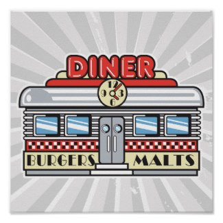 Retro Diner Poster