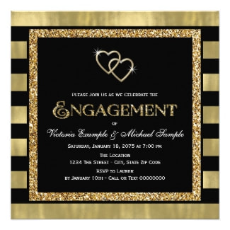 Retro Style Engagement Party Invitations