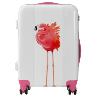 Pink Flamingo Luggage