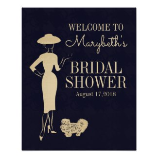 Classic vintage 50s bridal shower sign