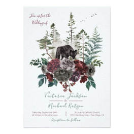 Woodland watercolor wedding invitations