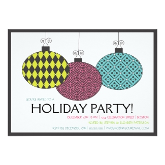 Festive Holiday Party Invite