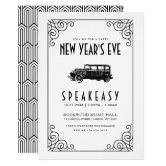 1920 New Years Eve Invitation