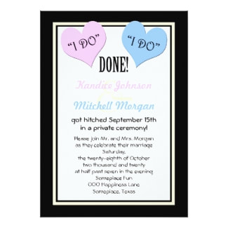 Elopement Party Invitation