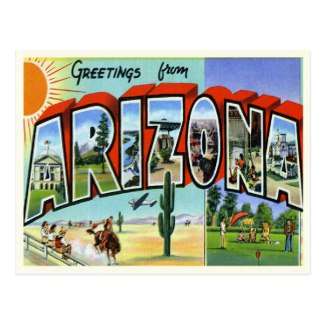 Retro US State Postcards - Retro Invites
