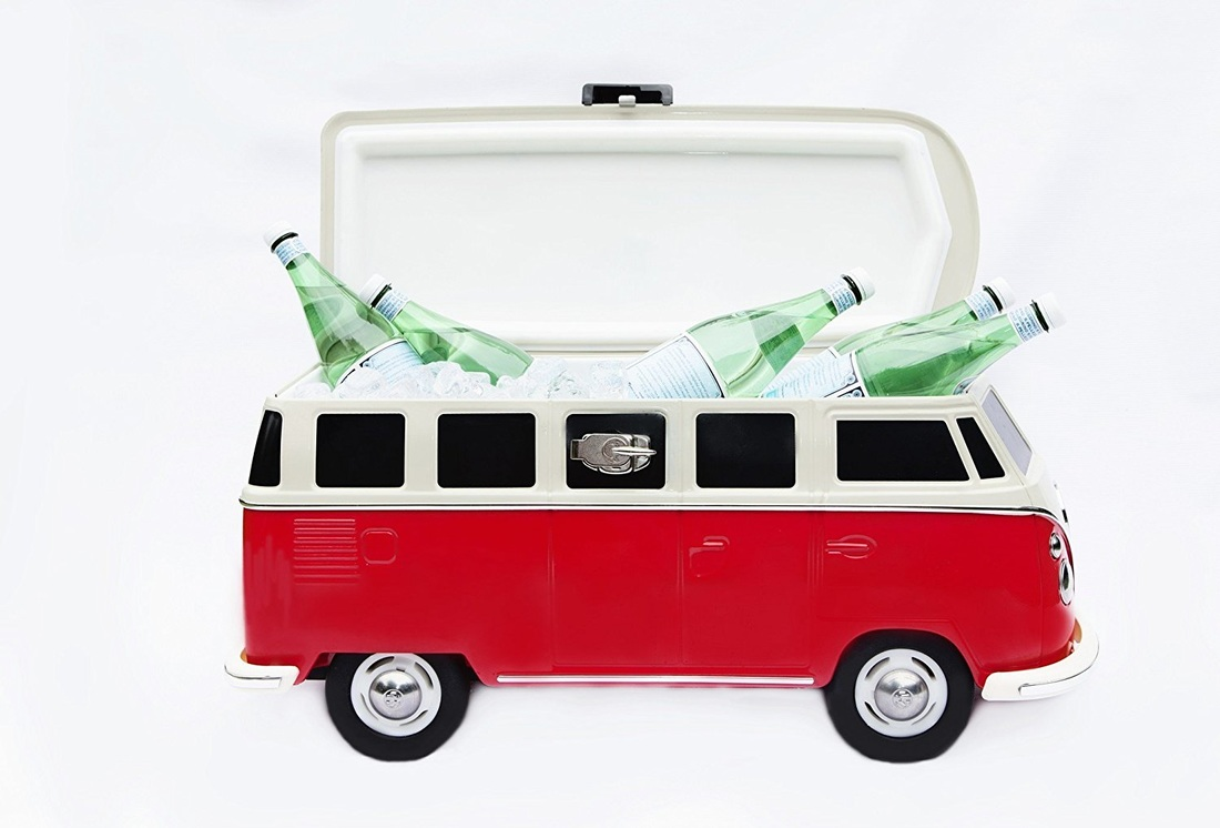 Retro Red VW Camper Van Cooler
